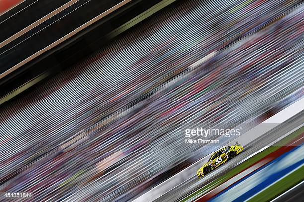 Carl Edwards driver of the Subway Ford qualifies for the NASCAR Sprint Cup Series OralB USA 500 at Atlanta Motor Speedway on August 29 2014 in...