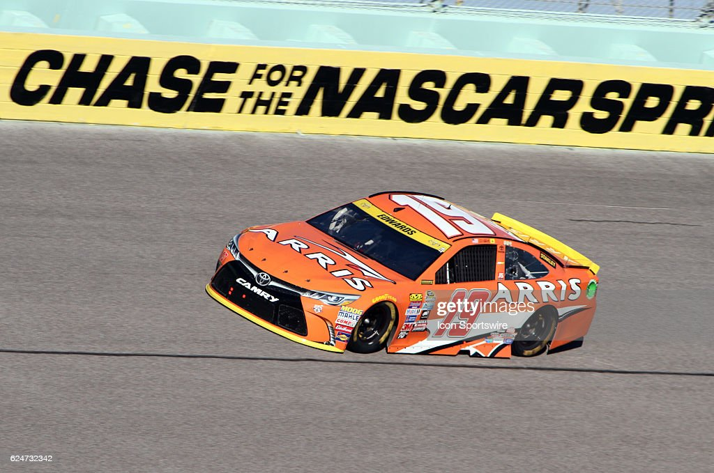 Carl Edwards runs during the NASCAR Sprint Cup Series - Ford EcoBoost 400 at Homestead Miami Speedway, Homestead, FL on November 20, 2016.