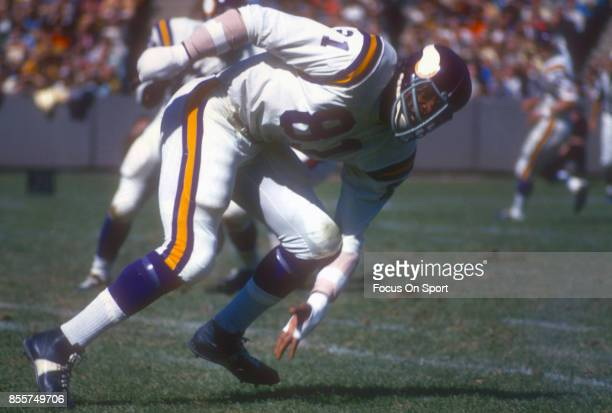 Carl Eller of the Minnesota Vikings in action during an NFL football game circa 1969 Eller played for the Vikings 196478