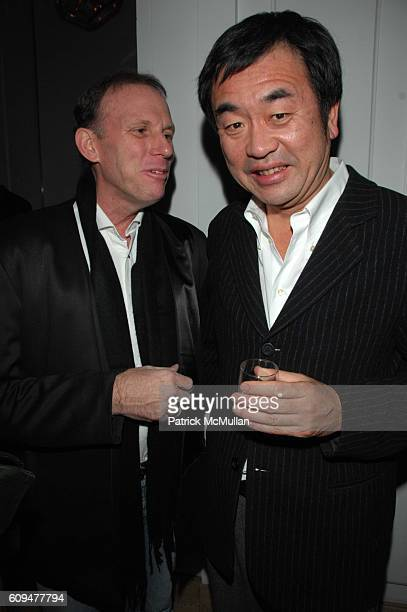 Carl Ettensperger and Kengo Kuma attend Dellis Cay NY launch party at Neue Gallerie NYC on January 23 2007
