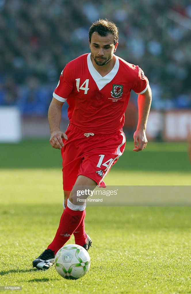 Carl Fletcher of Wales during the Euro2008 Group D Qualifier between the Republic of Ireland and Wales at the Croke Park Stadium on March 24, 2007 in Dublin, Ireland.
