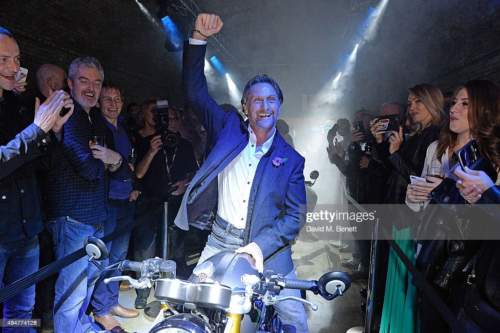 Carl Fogarty attends the Global Triumph Bonneville launch on October 28, 2015 in London, England.