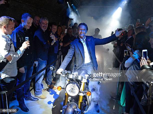 Carl Fogarty attends the Global Triumph Bonneville launch on October 28 2015 in London England