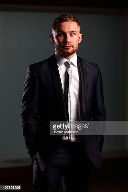 Carl Frampton poses for a picture during the Carl Frampton and Scott Quigg Press Conference at the Park Plaza Riverbank on November 16 2015 in London...