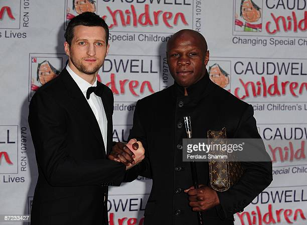 Carl Froch and Chris Eubank attend The Caudwell Children Butterfly Ball at Battersea Evolution on May 14 2009 in London England