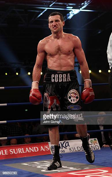 Carl Froch of England heads to his corner during his Super Six WBC Super Middleweight title fight against Mikkel Kessler of Denmark on April 24 2010...