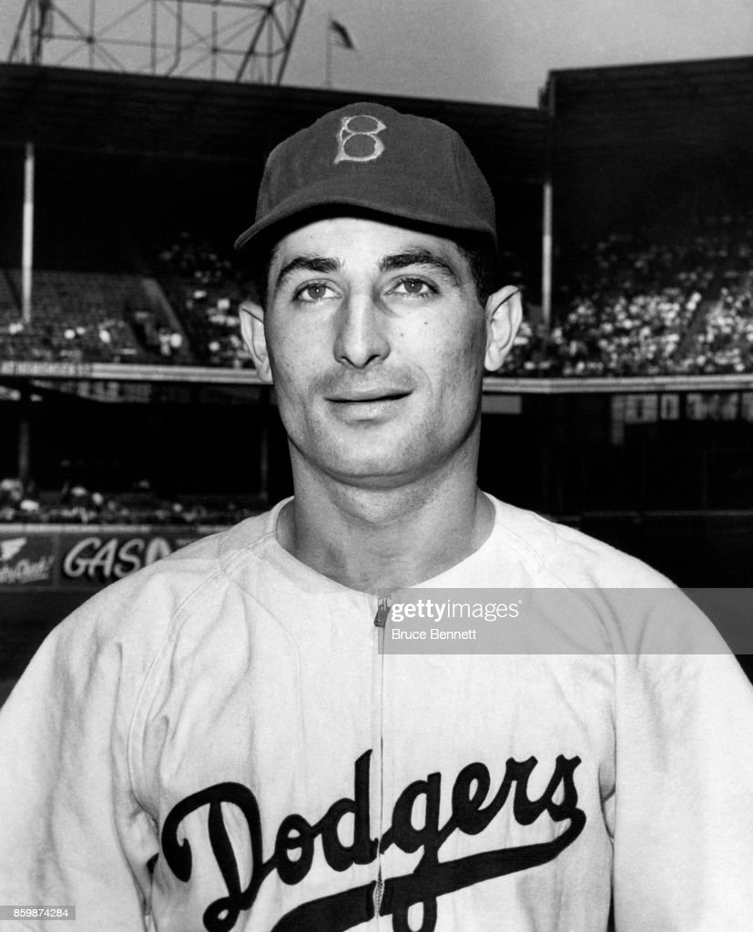 Carl Furillo #6 of the Brooklyn Dodgers poses for a portrait circa 1950 at Ebbets Field in Brooklyn, New York.