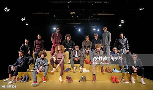 Carl Gilliaml showcases his designs at the MCCVIII presentation during London Fashion Week Men's January 2017 collections at ICA on January 7 2017 in...