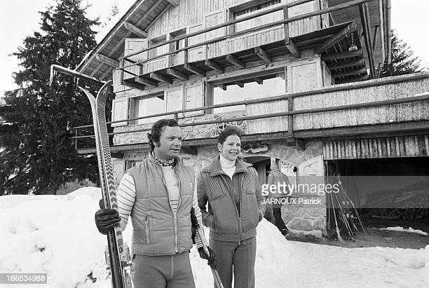 Carl Gustav And Silvia Of Sweden In Winter Sports In Meribel