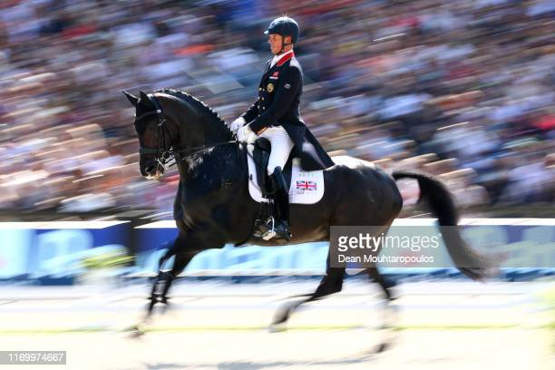 Carl Hester of Great Britain or Team GB riding Hawtins Delicato competes during Day 6 of the Grand Prix Freestyle, Longines FEI Dressage European...