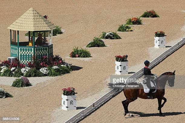 Carl Hester of Great Britain riding Nip Tuck competes in the Mens/Womens Team Dressage Grand Prix event on Day 6 of the Rio 2016 Olympic Games at the...