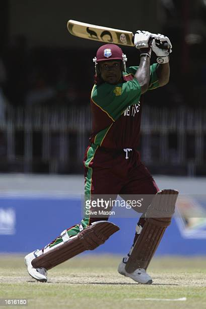 Carl Hooper of West Indies in action during the ICC Champions Trophy match between South Africa and West Indies held on September 13 2002 at the SSC...