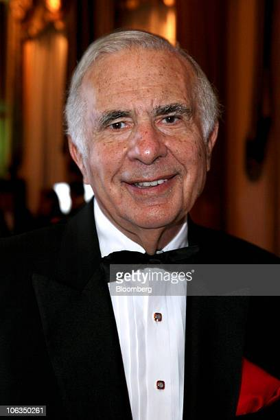 Carl Icahn chairman of Icahn Enterprises LP attends the New York Historical Society's History Makers gala in New York US on Wednesday Oct 6 2010...