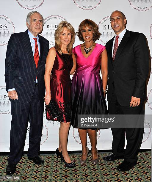 Carl Icahn Gail Icahn Gayle King and Mayor of Newark New Jersey Corey Booker attend the KIDS 25th Anniversary gala at Cipriani Dolci on December 1...