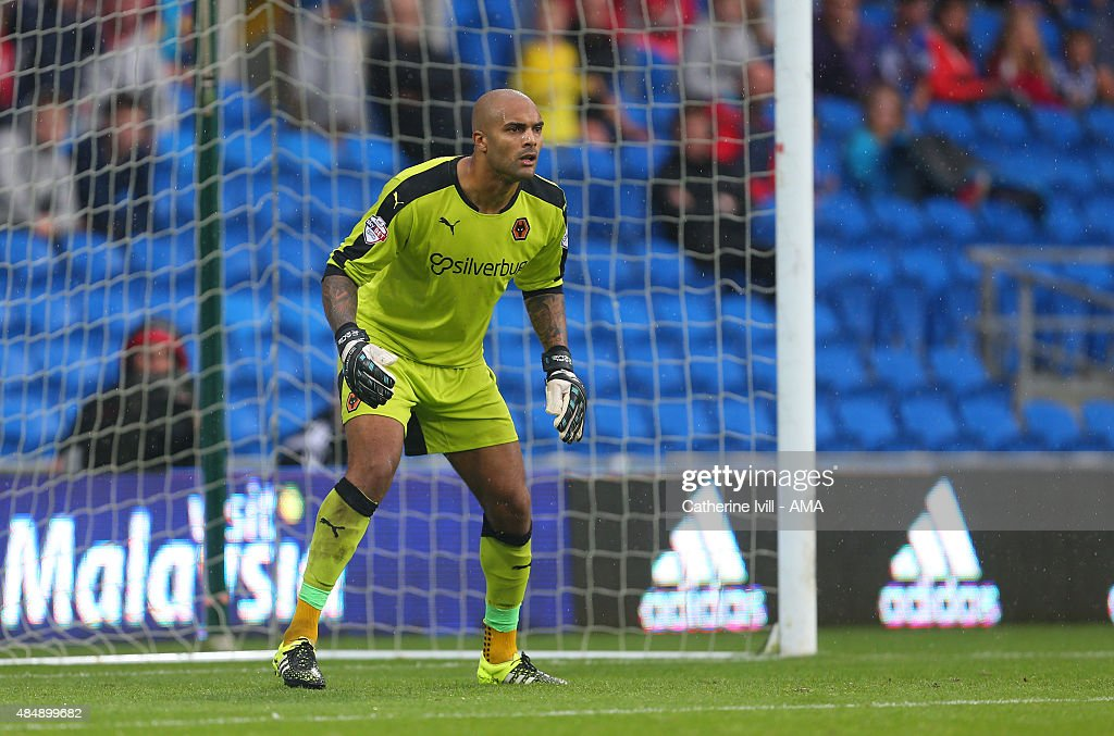 Carl Ikeme of Wolverhampton Wanderers during the Sky Bet Championship match between Cardiff City and Wolverhampton Wanderers at Cardiff City Stadium on August 22, 2015 in Cardiff, Wales.