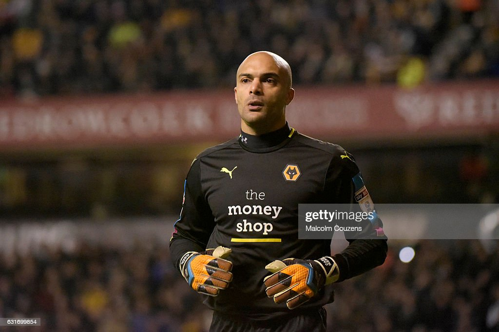 Carl Ikeme of Wolverhampton Wanderers during the Sky Bet Championship match between Wolverhampton Wanderers and Aston Villa at Molineux on January 14, 2017 in Wolverhampton, England.