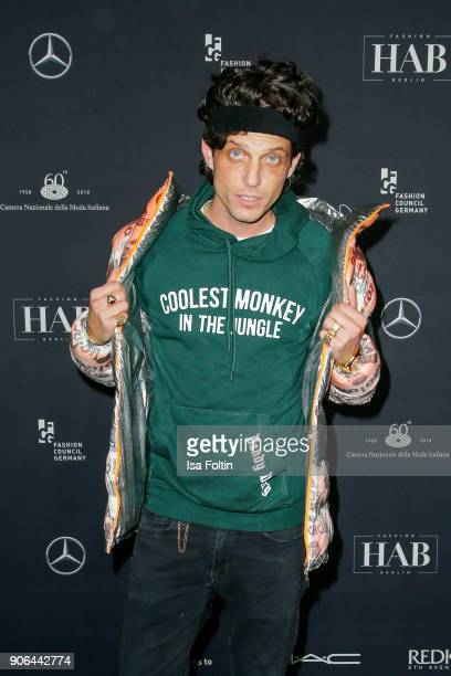 Carl Jakob Haupt during the Fashion HAB show presented by MercedesBenz at Halle am Berghain on January 17 2018 in Berlin Germany