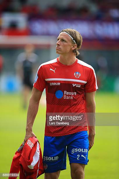Carl Johansson of Helsingborgs IF during the Allsvenskan match between Helsingborgs IF and IFK Goteborg at Olympia on May 29 2016 in Helsingborg...