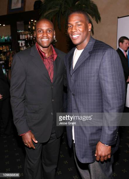 Carl Lewis and Antonio Gates during Movieline's Hollywood Life 8th Annual Young Hollywood Awards Cocktail Reception in Los Angeles California