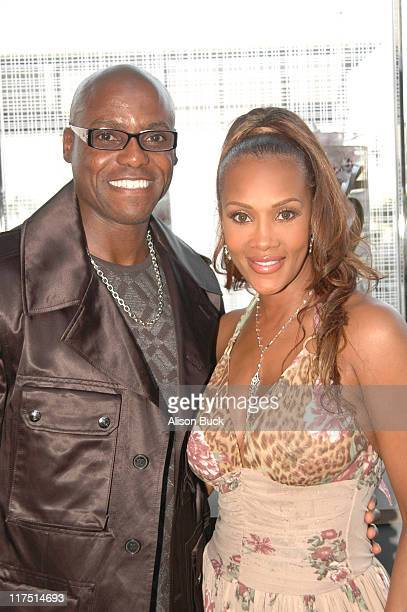 Carl Lewis and Vivica A Fox during De Beers Cocktail Party With Vivica A Fox March 22 2006 at De Beers in Beverly Hills California United States