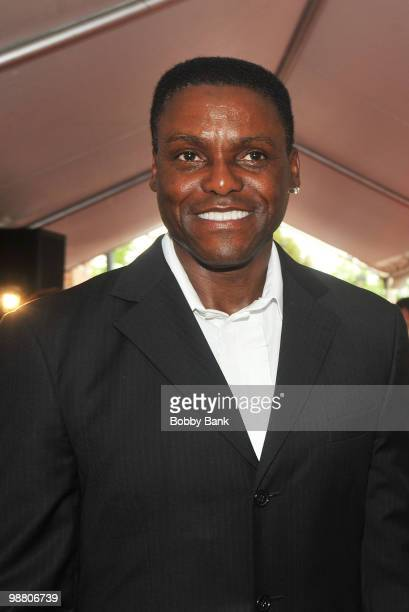 Carl Lewis attends the 3rd Annual New Jersey Hall of Fame Induction Ceremony at the New Jersey Performing Arts Center on May 2 2010 in Newark New...