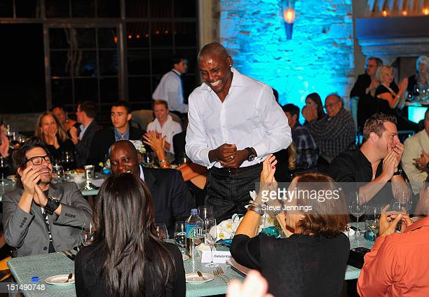 Carl Lewis attends the reception celebrating the Best Buddies Challenge Hearst Castle at the Tehama Golf Club on September 7 2012 in Carmel California