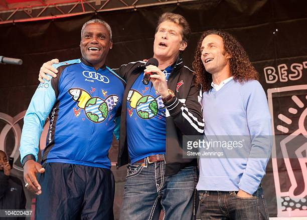Carl Lewis David Hasselhoff and Kenny G perform at the Audi Best Buddies Challenge Hearst Castle Day 2 on September 11 2010 in Carmel California
