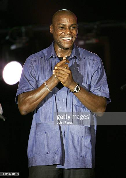 Carl Lewis during Best Buddies 9th Annual Miami Beach Gala 'Havana Nights' Inside and Backstage at Star Island in Miami Beach Florida United States