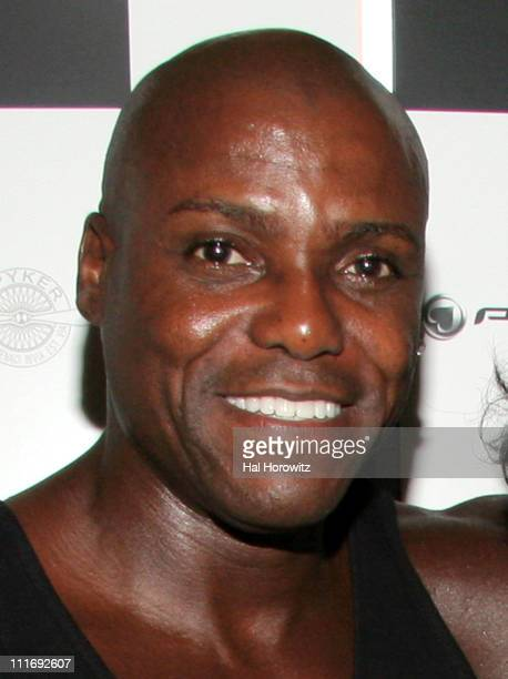 Carl Lewis during Celebration for the Beginning of Bullrun Arrivals July 21 2006 at Marquee in New York City New York United States