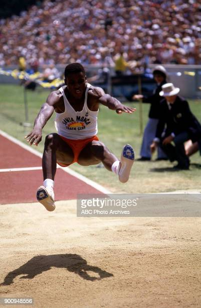 Carl Lewis Men's long jump competition Memorial Coliseum at the 1984 Summer Olympics August 6 1984