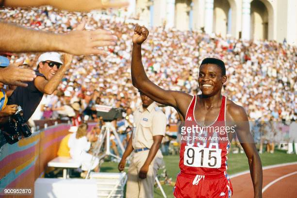 Carl Lewis Men's Track 200 metres competition Memorial Coliseum at the 1984 Summer Olympics August 6 1984