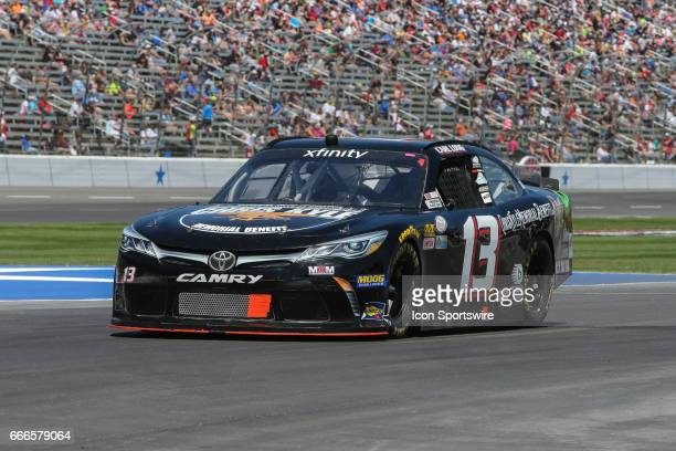 Carl Long drives off pit road during the My Bariatric Solutions NASCAR Xfinity Series race on April 8 2017 at Texas Motor Speedway in Fort Worth TX
