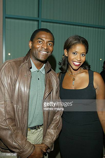 Carl Lumbly and Merrin Dungey during Behind The Scenes Of Alias at ATAS in North Hollywood CA United States