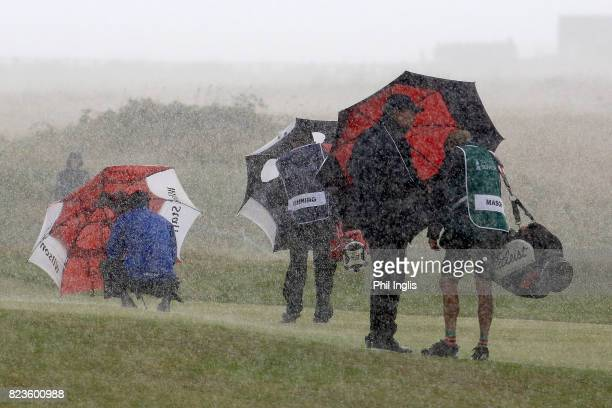 Carl Mason of England in action during the first round of the Senior Open Championship presented by Rolex at Royal Porthcawl Golf Club on July 27,...
