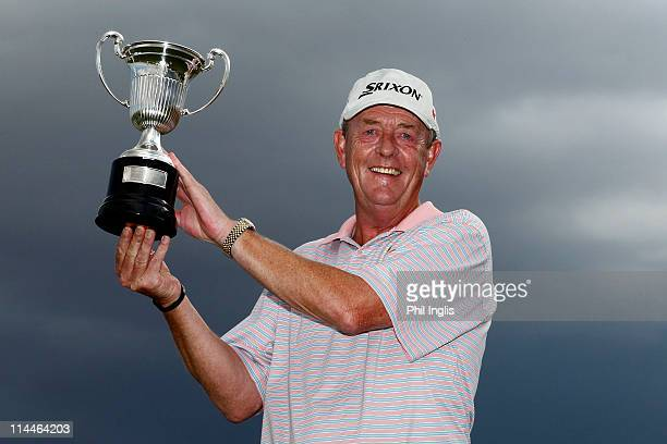 Carl Mason of England poses with the trophy after the final round of the OKI Open de Espana Senior by Cleveland Golf / Srixon at El Valle Golf Resort...