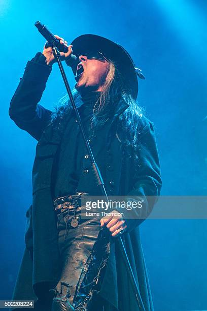 Carl McCoy of Fields Of The Nephilim performs at The Forum on December 21 2015 in London England