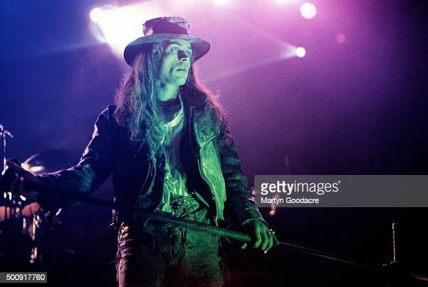 Carl McCoy of Fields Of The Nephilim performs on stage United Kingdom 1990