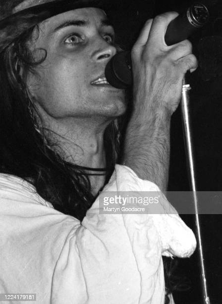 Carl McCoy of goth rock band Fields Of The Nephilim performs on stage London September 1990