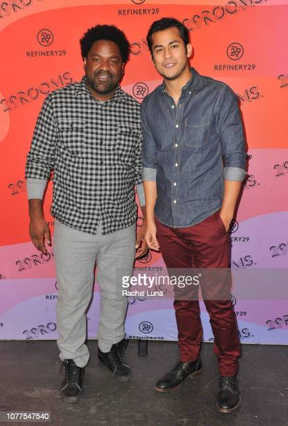 Carl McDowell and Erick Lopez attend Refinery29's 29Rooms Los Angeles 2018 Expand Your Reality at The Reef on December 04 2018 in Los Angeles...