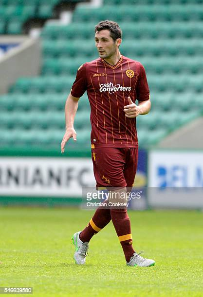 Carl McHugh of Motherwell at Easter Road on July 10 2016 in Edinburgh Scotland