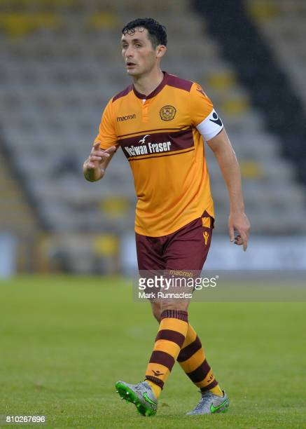 Carl McHugh of Motherwell in action during the pre season friendly between Livingston and Motherwell at Almondvale Stadium on July 4 2017 in...