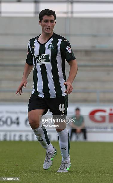 Carl McHugh of Plymouth Argyle in action during the Sky Bet League Two match between Northampton Town and Plymouth Argyle at Sixfields Stadium on...