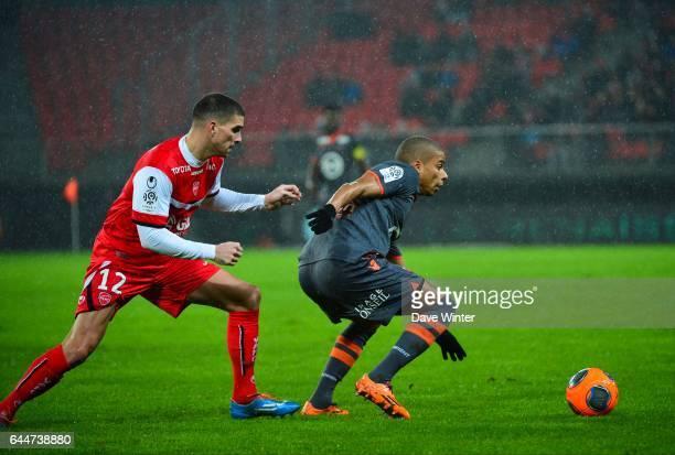 Carl MEDJANI / Kevin MONNET PAQUET - - Valenciennes / Lorient - 22eme journee de Ligue 1 -, Photo : Dave Winter / Icon Sport