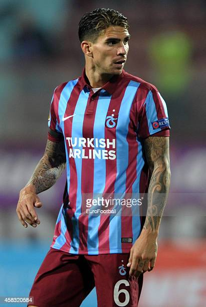 Carl Medjani of Trabzonspor AS in action during the UEFA Europa League Group L match between Trabzonspor AS and Legia Warszawa at the Hüseyin Avni...