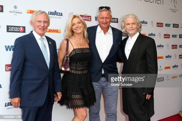 Carl Meulenbergh president CHIO Stefan Bloecher and his girlfriend Anna Posch and Hermann Buehlbecker CEO Lambertz during the media night of the CHIO...