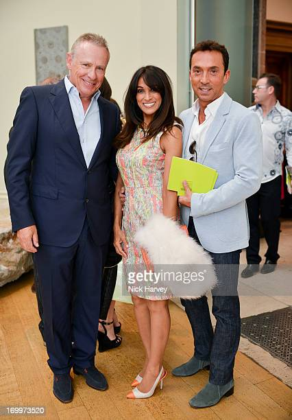 Carl Michaelson Jackie St Clair and Bruno Tonioli attend the preview party for The Royal Academy Of Arts Summer Exhibition 2013 at Royal Academy of...