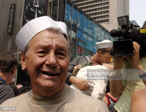 Carl Muscarello during VJ Day 60th Anniversary The Original Nurse and Sailor from Alfred Eisenstadt Photo The Kiss Appear in Times Square at Times...