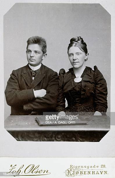 Carl Nielsen Danish composer violinist and conductor with his wife Odense Carl Nielsen Museet