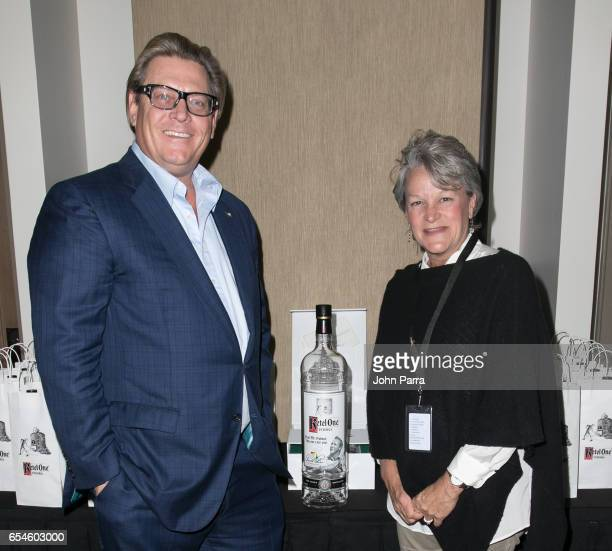Carl Nolet Jr 11th generation Nolet family creators of Ketel One Vodka and Amy Saunders Arnold Palmer's daughter unveil the Ketel One Vodka Arnold...