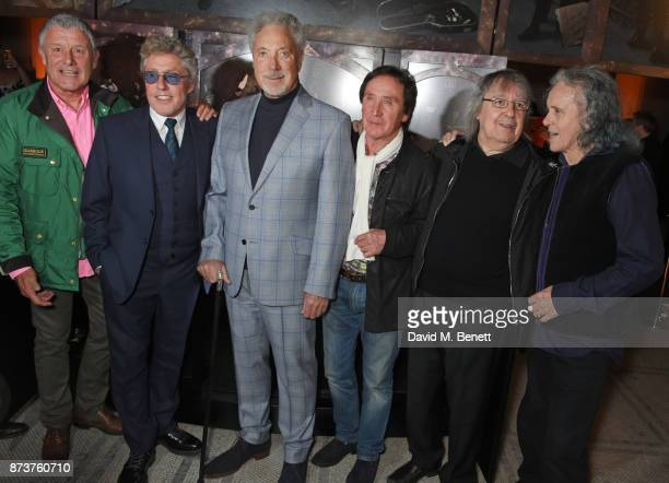 Carl Palmer Roger Daltrey Sir Tom Jones Kenney Jones Bill Wyman and Donovan attend the unveiling of 'The Adoration Trilogy Searching For Apollo' by...